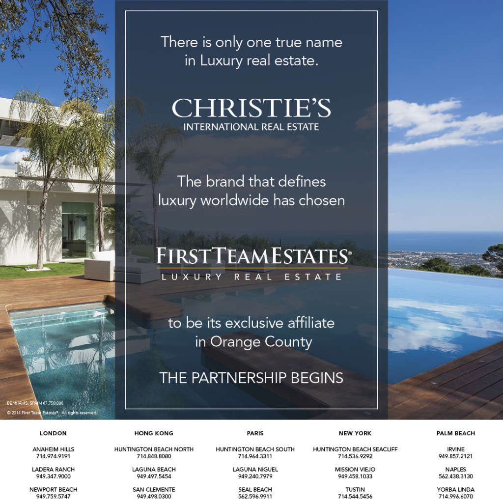 Christie's International First Team Estates Affiliate Announcement